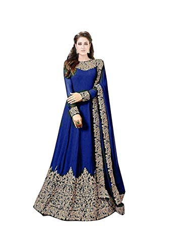 - STELLACOUTURE Designer Indian Fashion Anarkali Salwar Kameez Party Wear LT Nitya (Blue, XS-36)