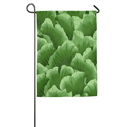 Personalized Lotus Leaf Flower Funny Home Yard House Garden Flags 12 X 18 Semi Transparent Polyester Fiber (Personalized Leaf Seals)