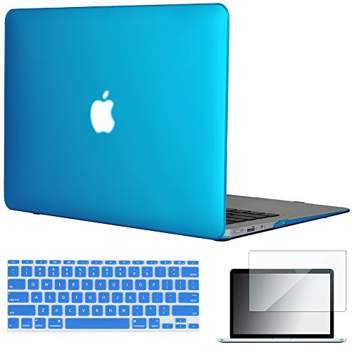 Hardshell Rubberized Cover - Easygoby 11-Inch 3 in 1 Rubberized Frosted Hardshell Case Cover for MacBook Air 11.6