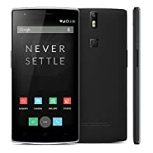 """Oneplus One Plus One FDD LTE 4g Mobile Phone 5.5"""" 1080p Snapdragon 801 3gb RAM 64gb ROM Android 4.4 NFC Cyanogenmod Cm11s - Black"""
