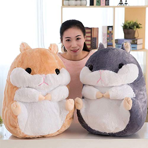 Top Stuffed Animals Cute Fat Mouse Hamster Plush Toy Stuffed Soft Kawaii Animal Cartoon Pillow Lovely Gift for Kids Baby Children 40cm (Dragon Age Origins Best Items)