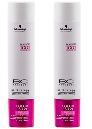 Color Save Silver Shampoo 8.5oz Pack Of Two (Schwarzkopf Bc Color Save)