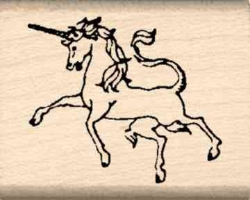 Unicorn Rubber Stamp – 1 inch x 1-1/4 inches