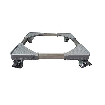 Base Móvil Ajustable Multifuncional Base De Rueda Ajustable Con 4 × 2 Ruedas Giratorias De Goma Con Bloqueo Para Lavadora Secadora Gabinete De Refrigerador: ...
