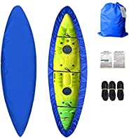 Kayak Cover 17-19ft Waterproof Canoe Cover Storage Bag Dust Cover and UV for Fishing Boat,Canoe and Kayak Cove