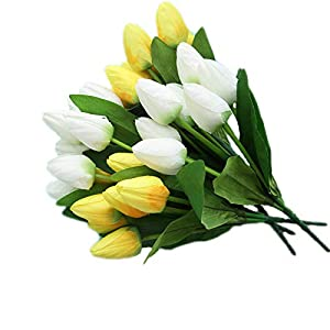 """Cat's collections 2Pack Artificial Tulip Flowers 14.5"""" for Party Home Wedding Decoration ... 41"""
