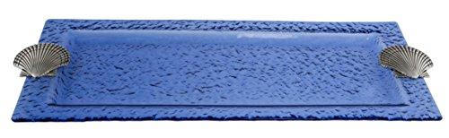 Thirstystone Glass Rectangular Tray, Shell, Blue (Rectangular Tray Glass)