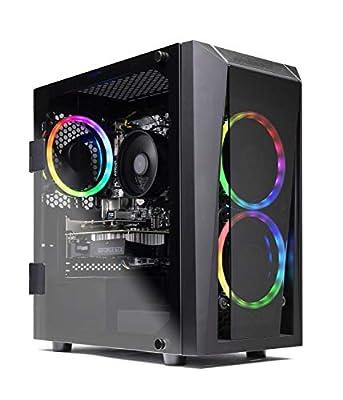 SkyTech Blaze II Gaming Computer PC Desktop - Ryzen 5 2600 6-Core 3.4 GHz, NVIDIA GeForce GTX 1660 TI 6G, 500G SSD, 8GB DDR4, RGB, AC WiFi, Windows 10 Home 64-bit