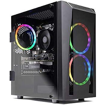 SkyTech Blaze II Gaming Computer PC Desktop - Ryzen 5 2600 6-Core 3.4 GHz, NVIDIA GeForce GTX 1660 6G, 500G SSD, 8GB DDR4, RGB, AC WiFi, Windows 10 Home 64-bit