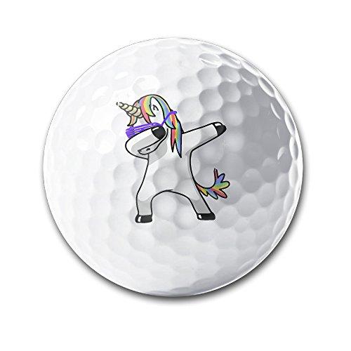 Dabbing Unicorn White Elastic Golf Balls Practice Golf Balls Golf Training Aid Balls by OYten