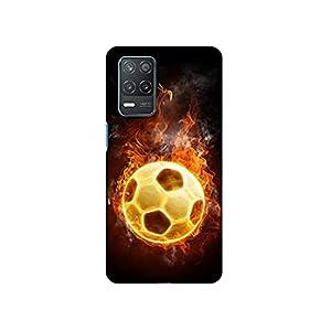 Casotec Football & Fire Design 3D Printed Hard Back Case Cover for Realme 8 5G