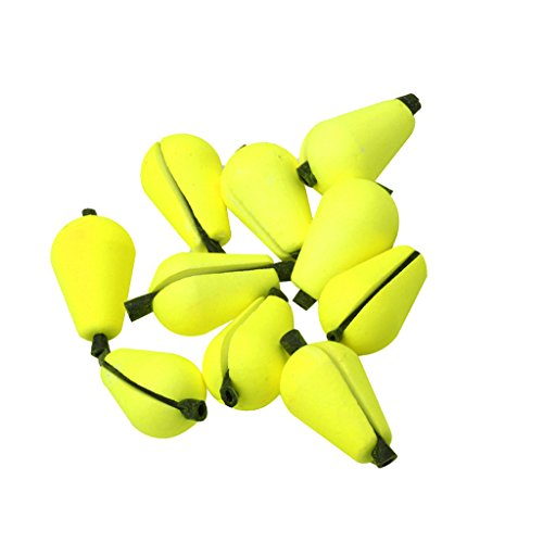 MagiDeal 6Pcs Float Foam Strike Indicator Fly Fishing Accessories - Yellow