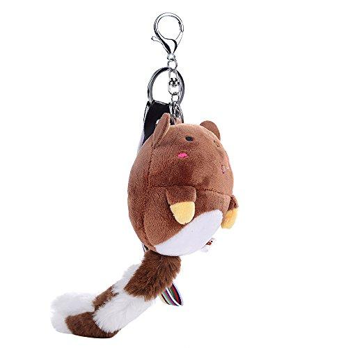GBJewelry Pom Pom Totoro Keychain Bag Purse Charm Silver Ring
