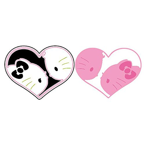Metal Cutting Dies Stencil Metal Template for DIY Scrapbook Album Paper Card (Hello kitty and heart)