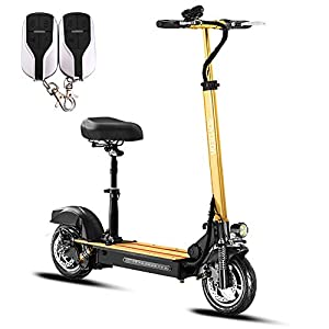 41YyrnTgM8L. SS300 HAOYF Monopattino Elettrico Impermeabile per Adulti, Scooter Pieghevole con Sedile Rimovibile E Porta USB Incorporata…
