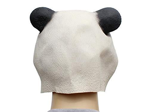 Yuchoi Funny Cute Latex Panda Mask Funny Latex Mask Head Cover Halloween Masquerade (White) by Yuchoi (Image #4)