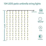 Patio LED Umbrella String Lights, 104 LEDs 8