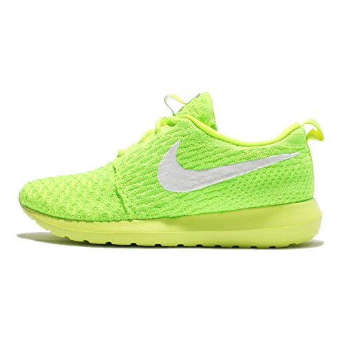 buy online 0d440 1742e Galleon - Nike Womens Wmns Roshe NM Flyknit Volt White-Electric Green  Fabric Size 7