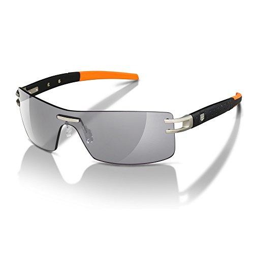 Tag Heuer L-Type LW 0451 126 Calfskin Black / Orange Pure Grey Rimless Sport - For Men Sunglasses Heuer Tag