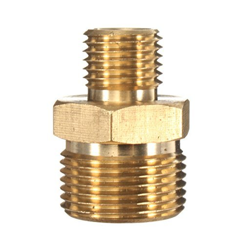 HITSAN M22 Male to 1/4 Male Adapter Brass Pressure Washer Hose Quick Connect Coupling Fitting for Karcher (Male Coupling 1/4)