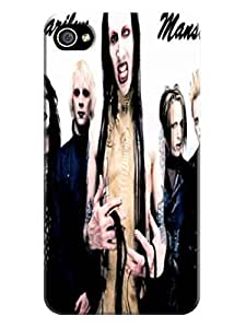 Luxury design TPU phone back case cover with cartoon fit for iphone4/4s (Marilyn Manson)