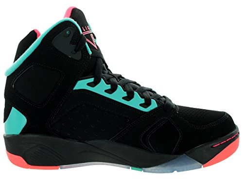 Nike Mens Air Flight Lite Scarpe Da Basket Nero / Iper Jade / Iper Punch