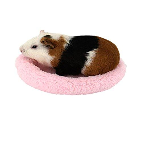 - Sinwo Soft Fleece Guinea Pig Bed Small Animal Cage Mat Hamster Sleeping Bed Pet Bed Pet Mat … (Pink)