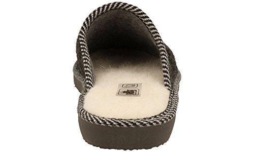 De 906 Calientes Casa Bienestar Para Handmade Fieltro Hombre Negro Zapatillas Calidad Natural Lana Transpirables S4qZdng