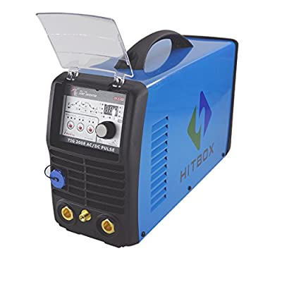 Hitbox TIG 200Amp AC/DC pulse arc tig DC inverter welder 220V aluminum welding machine with foot control