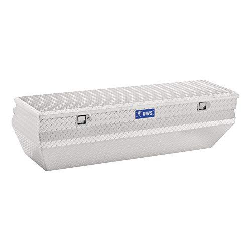 Price comparison product image UWS EC20311 55-Inch Heavy-Wall Aluminum Wedge Angled Truck Storage Box,  RigidCore Lid