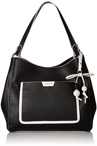Nine West Marea Shoulder Bag, black/optic white