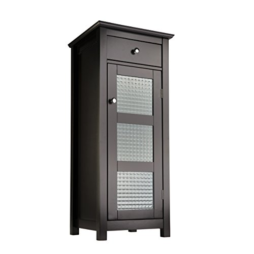 Elegant Home Fashions Chesterfield Collection Floor Cabinet with One Door and One Drawer Espresso  sc 1 st  Amazon.com & Freestanding Bathroom Cabinet: Amazon.com