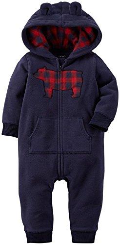 UPC 635963782221, Carter's Baby Boys' Hooded/Eared Romper (Baby) - Bear Navy-18M