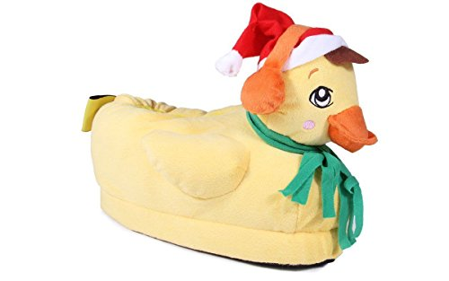 Happy Feet 9082-1 - Duck The Halls - Small Animal Slippers ()