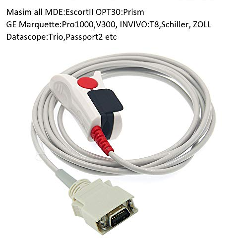 Universal 14 Νeedle Βlood Οxygen Ρrobe,14 Pinparameters SPO2 Sensor Cable, for GE pro1000, Colin, Datascope: Trio