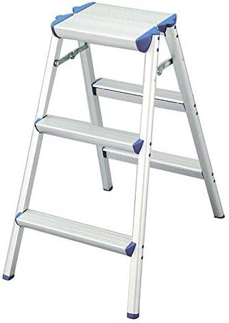 スツールベンチファミリー折りたたみアルミニウムはしごを厚くし、広げる滑り止めはしごステップスツール(サイズ:49x70x79CM)