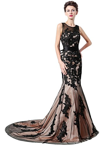 Belle House Sheer Neck Formal Evening Gown Long Mermaid Prom Dresses