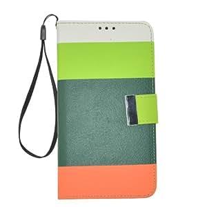 Apexel - Funda de piel sintética tipo cartera para Samsung Galaxy Note 3 N900, N9000, N9002 y N9005 (cierre magnético, correa), diseño de arcoíris, multicolor