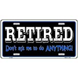 Retired With Hammock Aluminum Automotive Novelty License Plate Tag Sign Sports Addicts SMRTB679