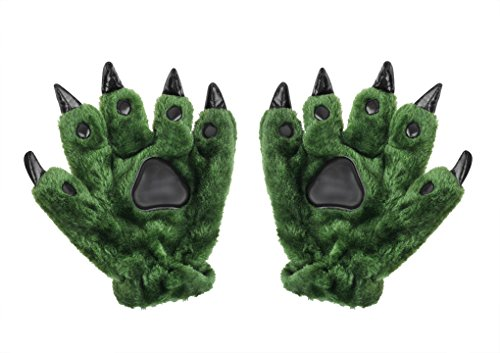 Fakeface Men Women Halloween Animal Paw Claw Gloves Monster Dinosaur Bear Costume Gloves Winter Thermal Thickened Cotton Padded Hand Warmer Mittens Christmas Birthday Gift -