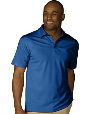 Men's Dry-Mesh Hi-Performance Wrinkle Resistant Polo Shirt