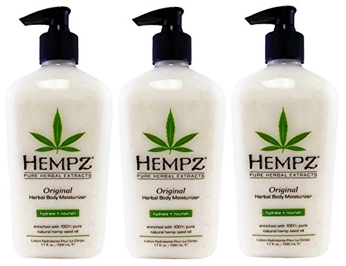 Hempz Original Herbal Body Moisturizer, 17 oz, Pack of 3 by Hempz