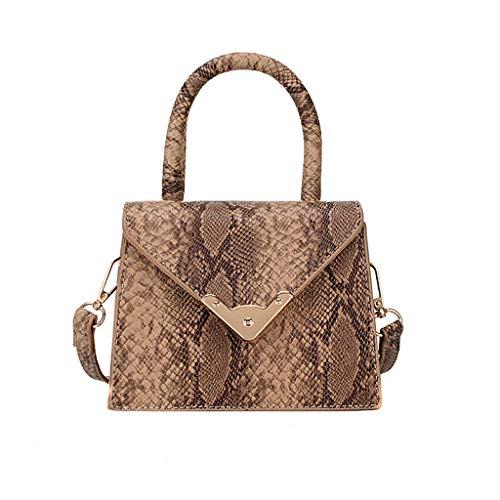 GoodLock (TM) Women's Retro Serpentine Messenger BagHot!! Fashion Crossbody Bag Shoulder Bag Handbag Tote Bag Card Wallet (Khaki)
