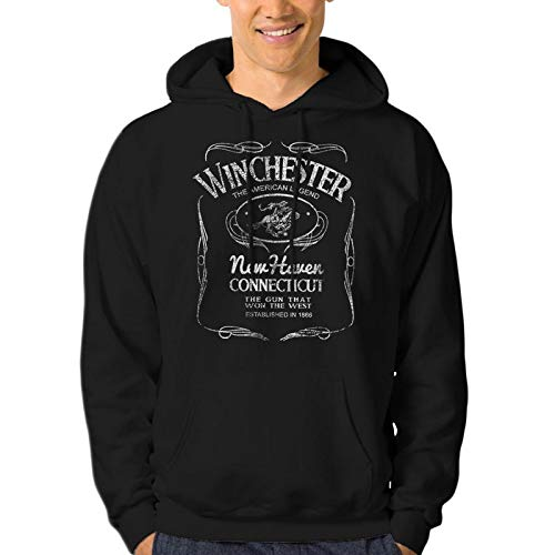 Winchester Western PosterHoodie Pullover Fleece for Men - Sweatshirt, Gift, Cotton Poly Blend, Ultra Soft by Winchester (Image #2)