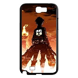 Samsung Galaxy Note 2 Black phone case Attack On Titan Christmas gifts for boys and girls OPC9504078
