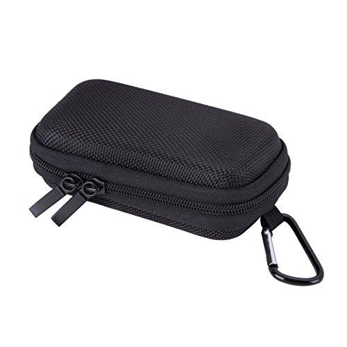 AGPtek BC Duradera cubierta Estuche para organizar MP3 Reproductor y Auriculares, soporte con mosquetón de Metal, color Negro Negro