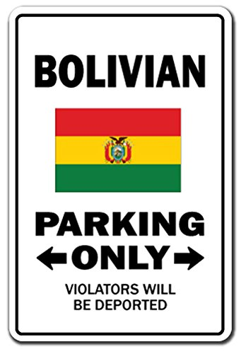 [SignJoker] BOLIVIAN Parking Sign gag novelty gift funny bolivia south america Wall Plaque Decoration