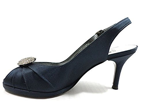 STUART WEITZMAN WH921 Sandalias Mujer 36 EU Satén Azul marino