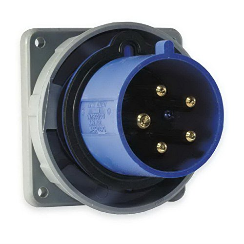 Wiring Pin Watertight (Hubbell Wiring HBL320B6W Watertight Pin and Sleeve Inlet 20 Amp 250 Volt AC 2-Pole 3-Wire Blue)