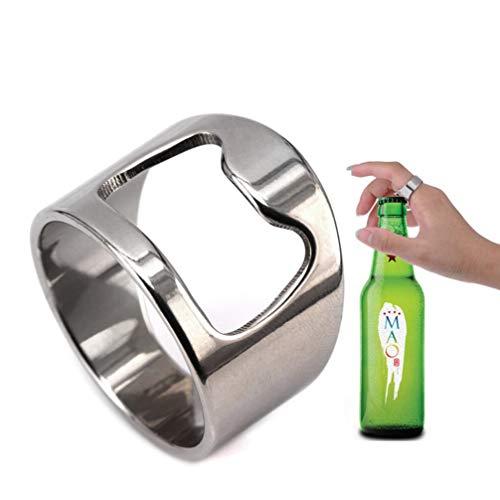 VQYSKO Beer Bar Tool Creative Versatile Stainless Steel Finger Bottle Opener Ring Party Ring (12)